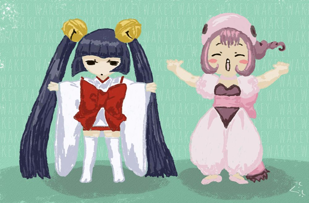 Wakey Exercises By Sumomo And Kotoko From Chobits