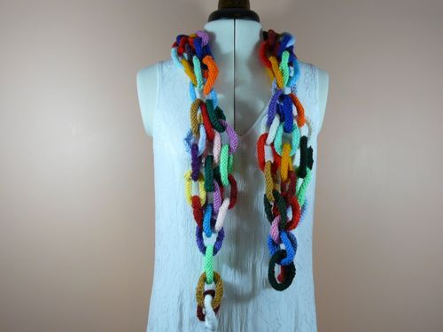 Paper Chain Scarf Free Knitting Patterns Free Novelty Knitting