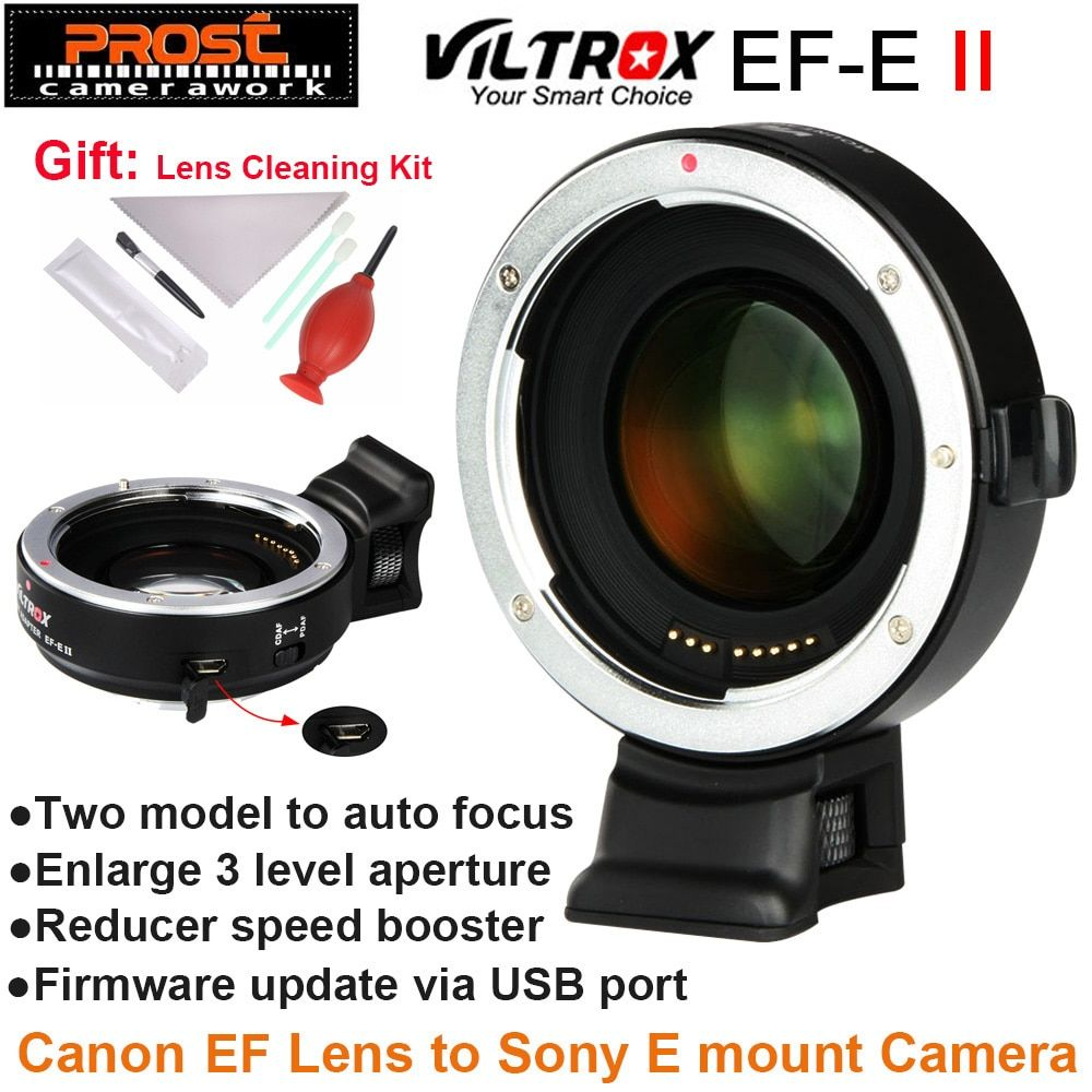 Viltrox Ef E Ii Auto Focus Reducer Speed Booster Lens Adapter For Canon Ef Lens To Sony Nex E Camera A9 A7 A7r A7sii A6500 Ne Canon Ef Lenses Sony Nex Canon