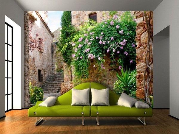 Diferentes revestimientos para paredes decoraci n de Murales decorativos para exteriores