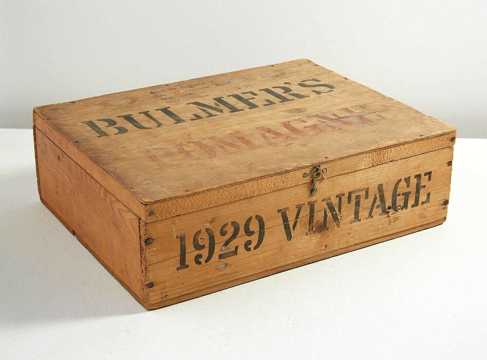 Antique Advertising Wooden Box Hinged Hard Cider Uk Bulmer S Wine Crate 1928 Uk Ebay With Images Antique Wooden Boxes Vintage Wooden Crates Wine Crate