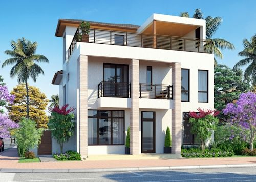 Bali 3 Story Model en Canarias Downtown Doral - Haga clic para obtener más información