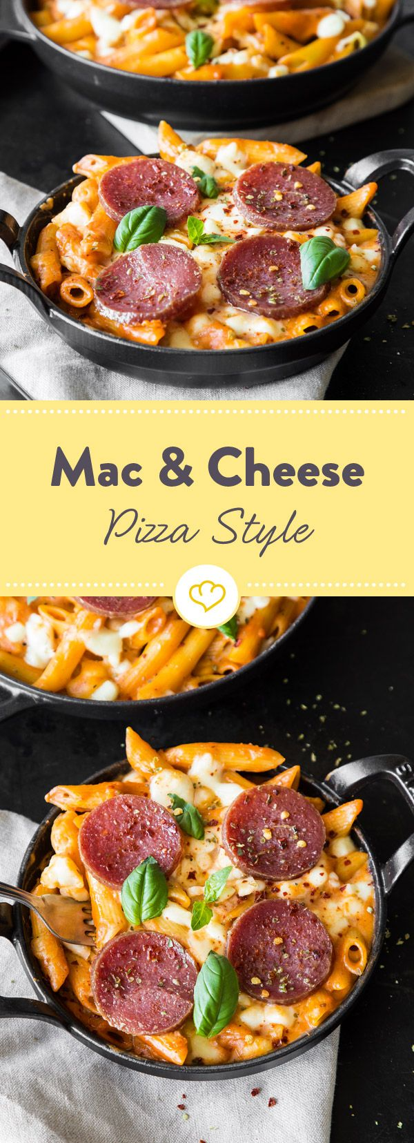 Mac & Cheese Pizza Style