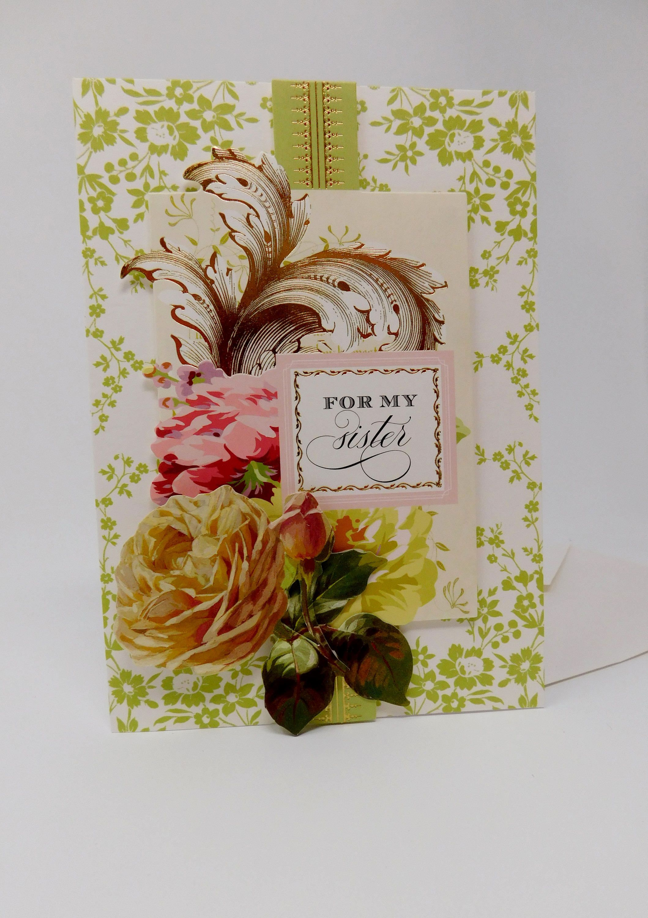 Handmade Multipurpose Greeting Card For My Sister Anna Griffin