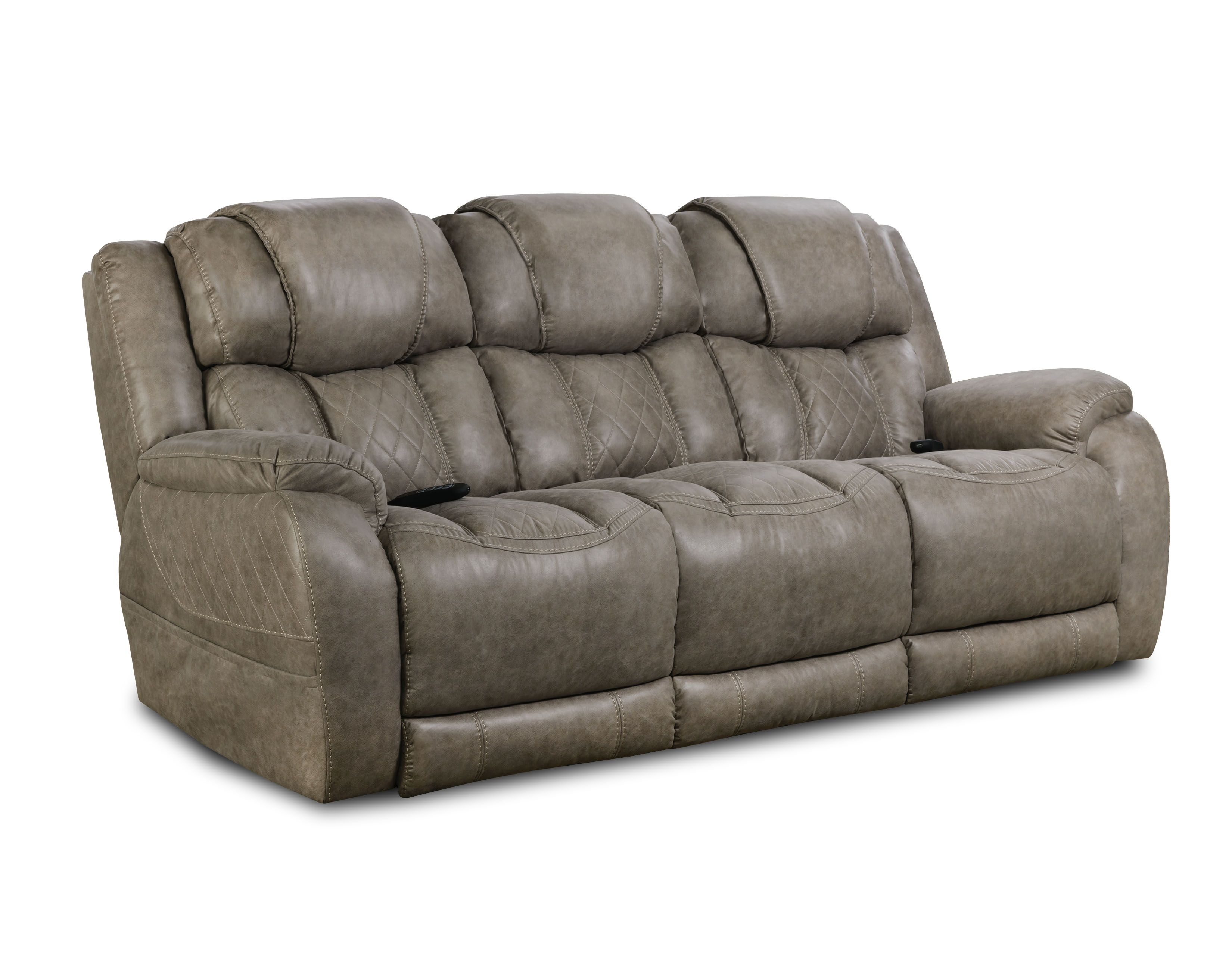 Double Reclining Power Sofa From Homestretch In 2020 Chelsea Home Furniture Reclining Sofa Furniture