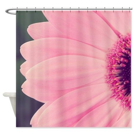 Pink Flower Shower Curtain On CafePress.com