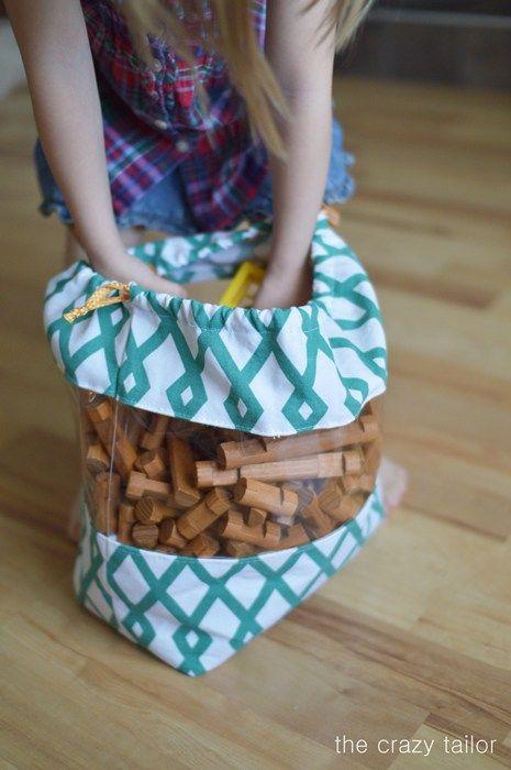 Toy Bag Tutorial Toy Storage Bags Diy Bags Tutorial Sewing Crafts