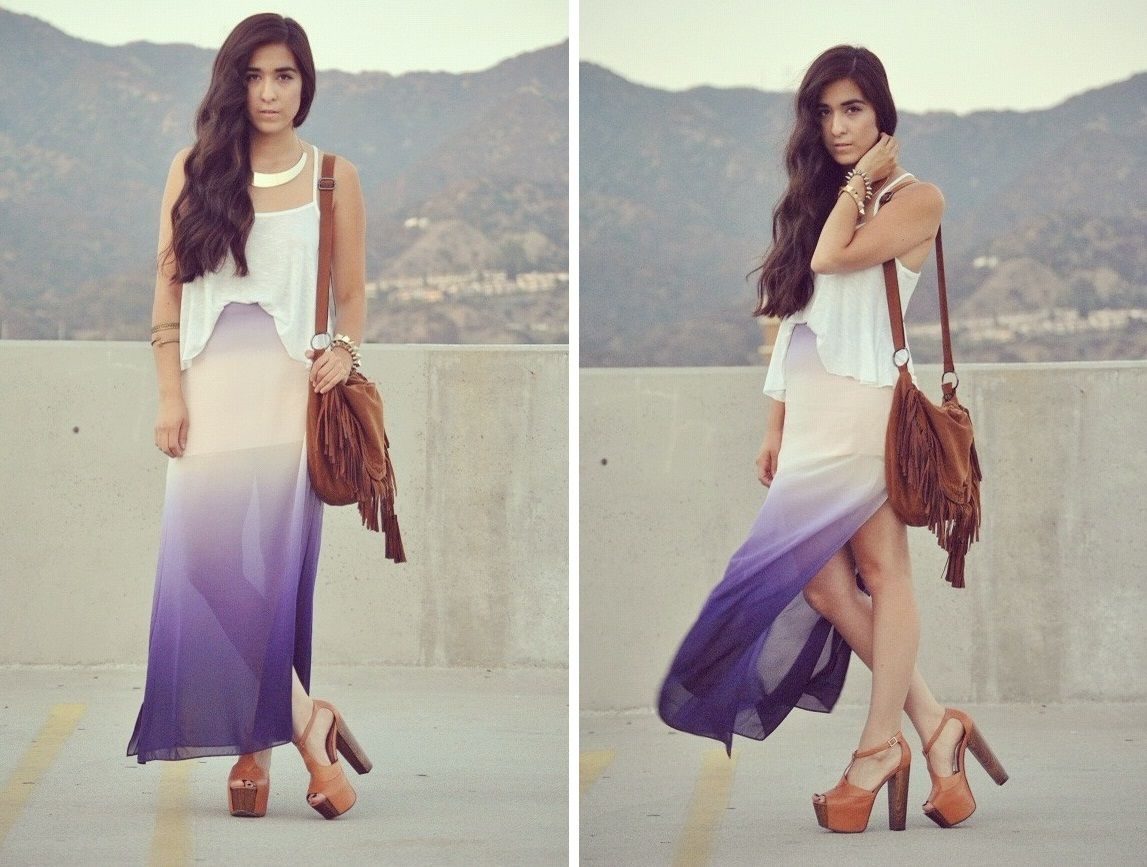 the ombre skirt from luna vintage blog