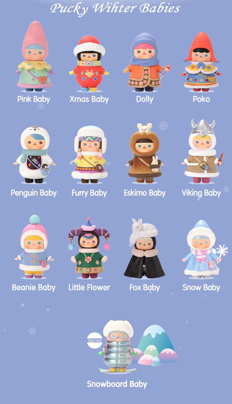POP MART PUCKY Mini Figure Designer Art Toy Figurine Winter Babies Little Flower