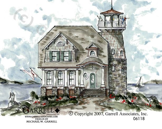 Weathermoore Lighthouse Plan 06118 Garrell Associates Inc Coastal House Plans Beach House Plans Beach Cottage Decor