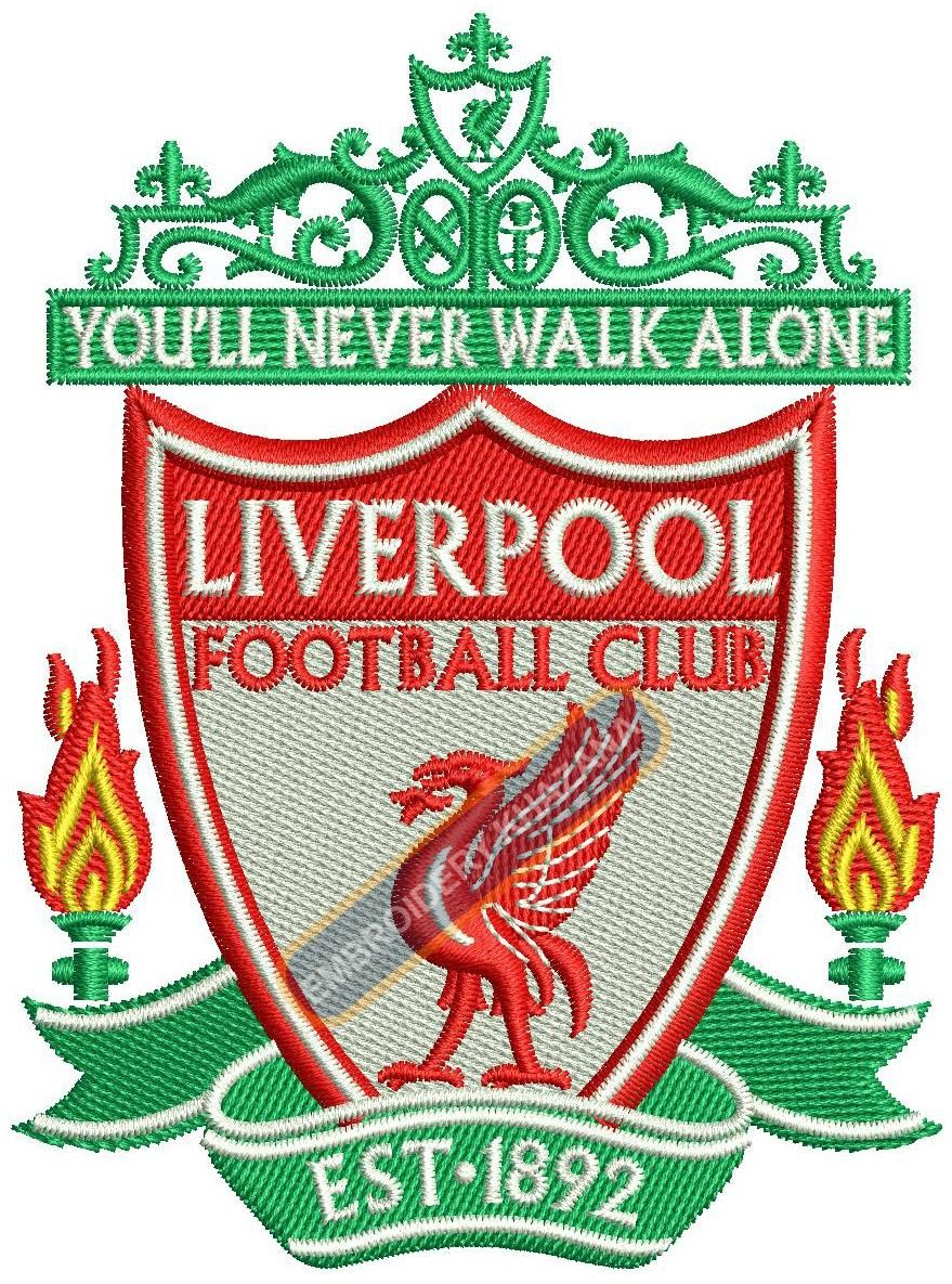 Liverpool football club logo machine embroidery design | Embroidery ...