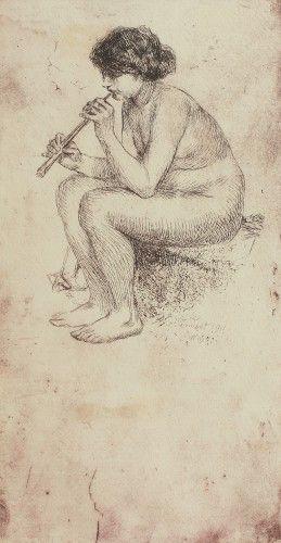 Nimfă cântând la fluier
