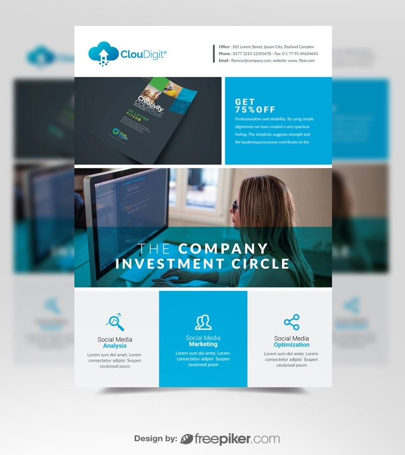 modern corporate flyer template flyers corporate flyer flyer