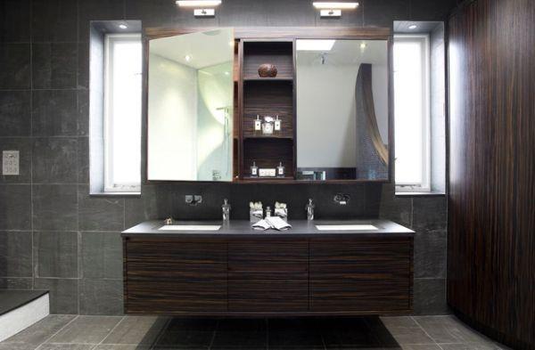 Maison flottante de vanité salle de bain incroyablement éclairé ...