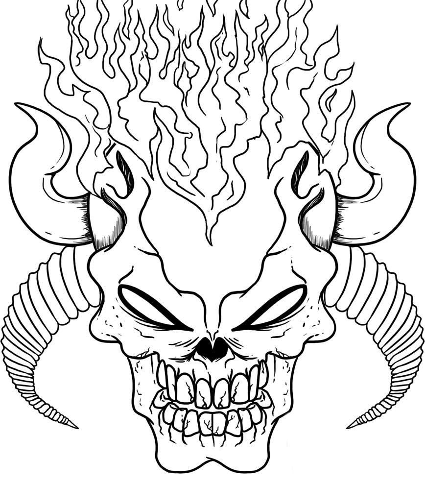 Skull Tattoos Designs Ideas And Meaning Skull Coloring Pages Scary Coloring Pages Halloween Coloring Pages