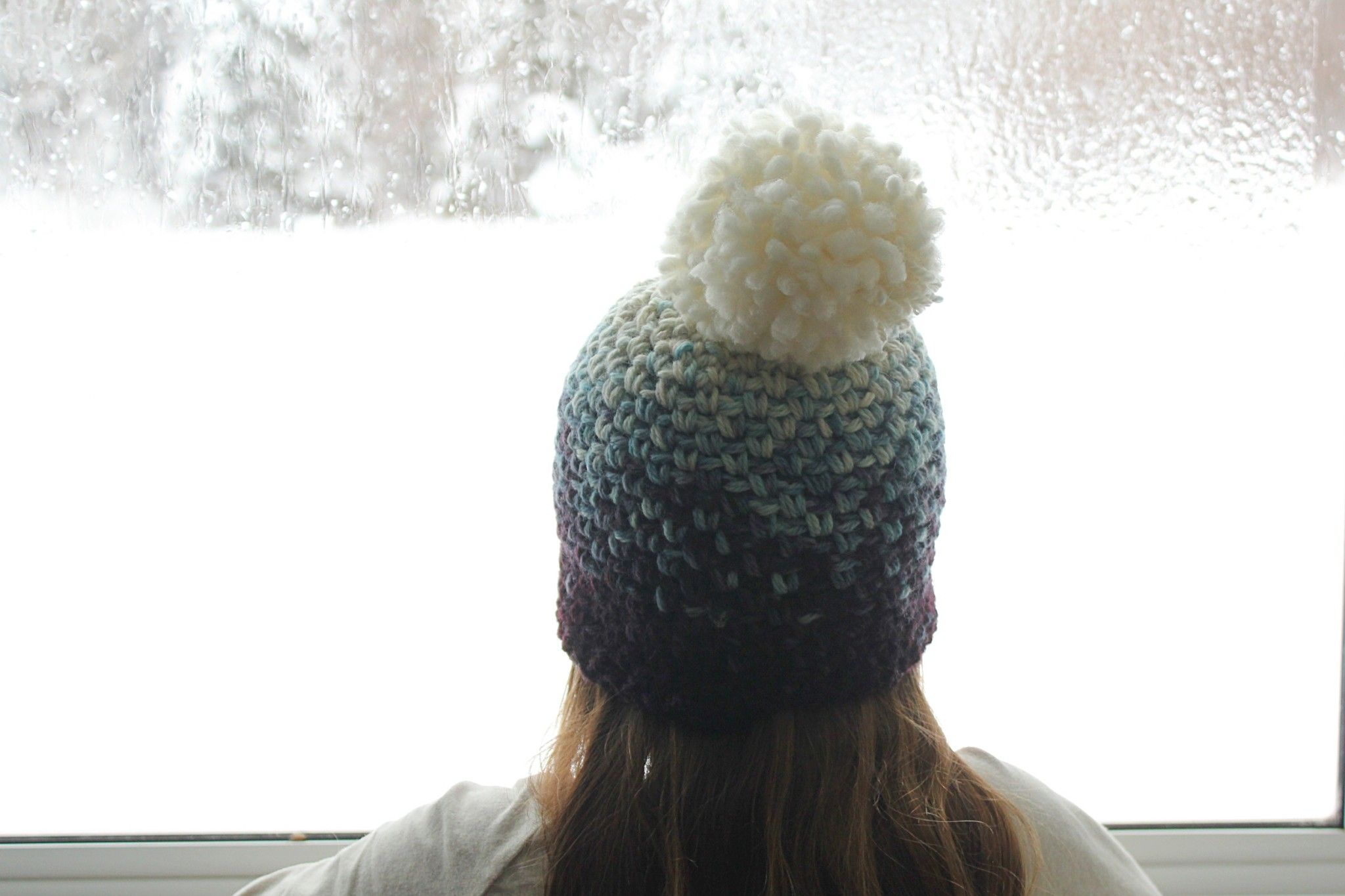 DIY} Ombre PomPom Toque | Crochet | Pinterest