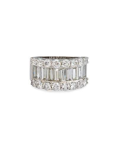 Bessa Baguette Diamond Line Ring, Size 6.5