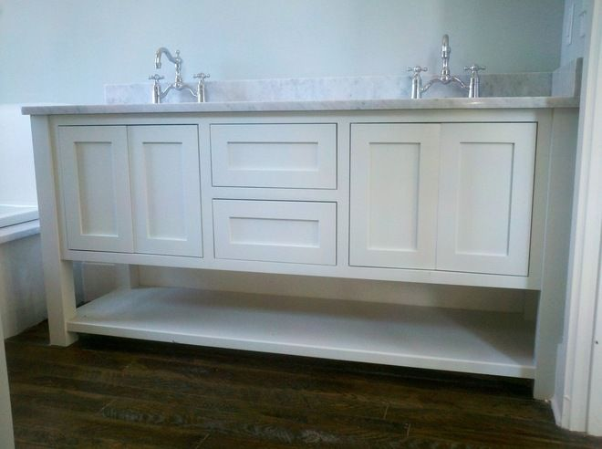 Easy Shaker Style Bathroom Vanity Design That Will Make You Feel Cheerful For Home Remodel Ideas With