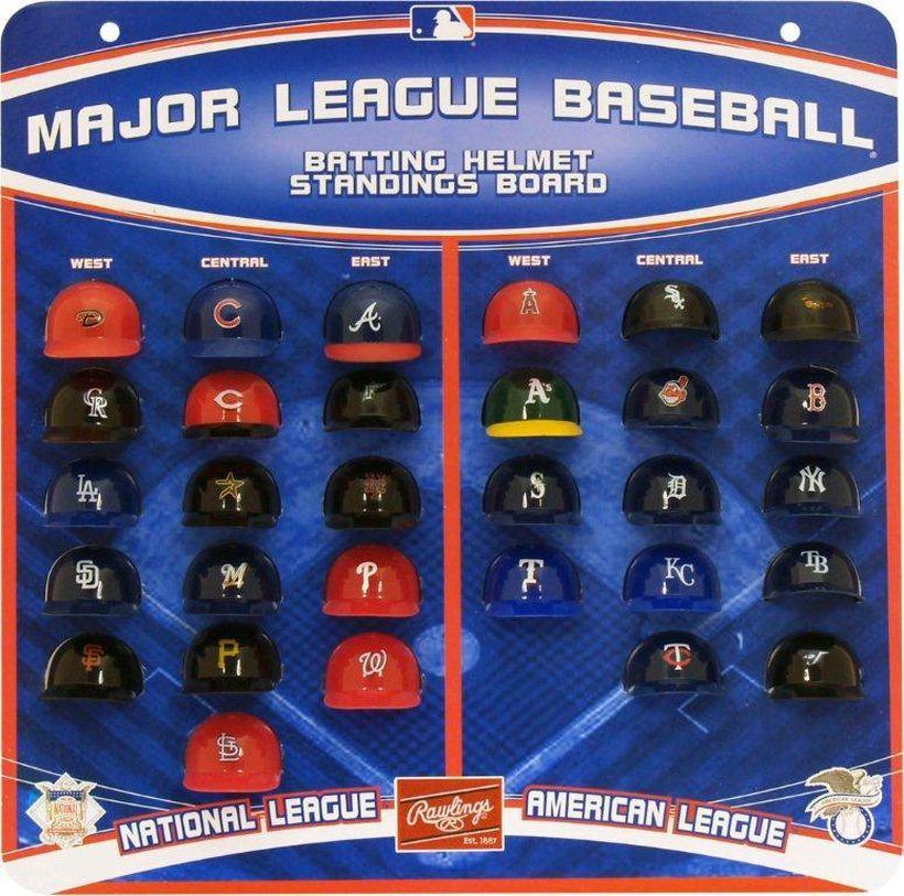 Rawlings Major League Baseball Micro Batting Helmet Standings Board Major League Baseball Batting Helmet Baseball Helmet