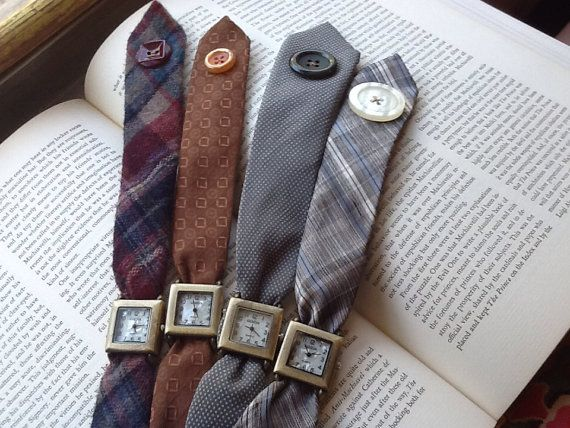 Necktie+Watch+Wrap+crafted+from+jewel+tone+plaid+by+suzannedesigns,+$35.00