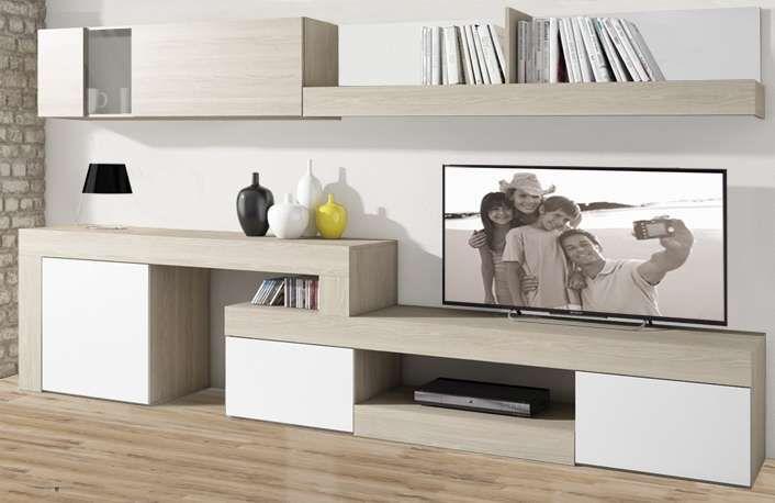 Mueble De Salon Minimalista Color Sable Y Blanco Deco In 2018 - Mueble-salon-minimalista