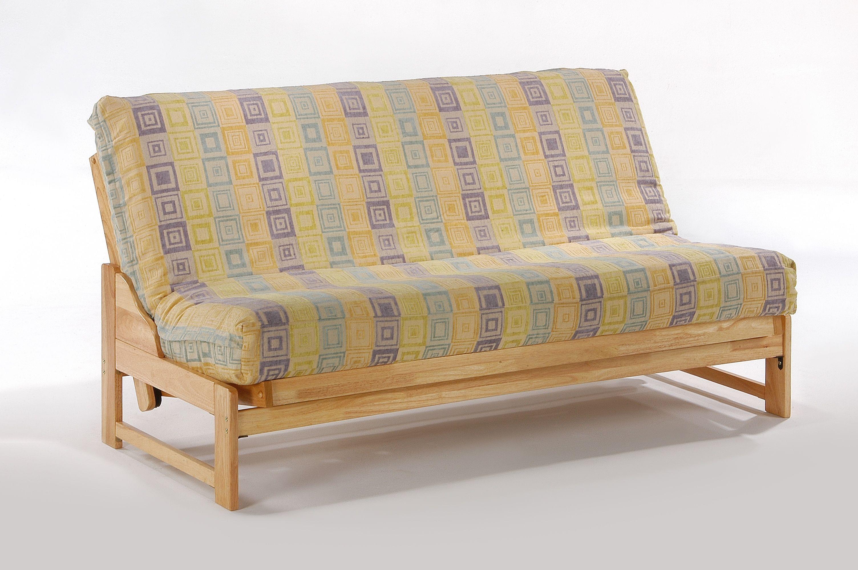 Eureka Microfiber Wood Futon Bed Queen