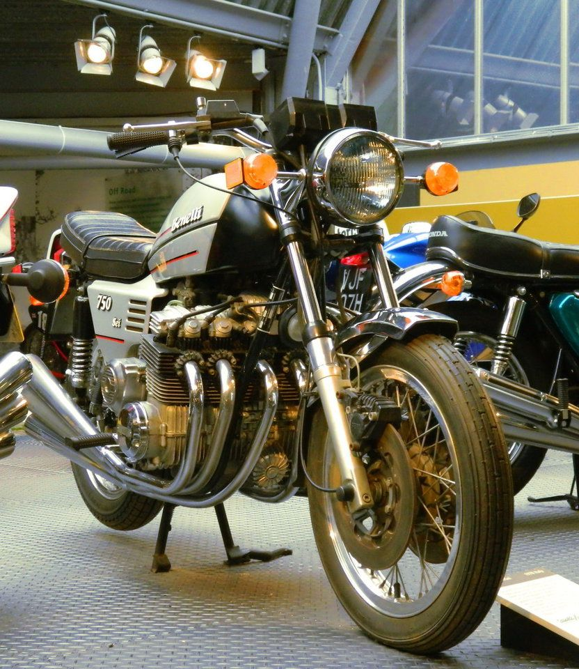 Benelli Sei 750 - the world's first 6-cylinder motorcycle, if I'm correct. This engine is surely impressive, but I would never want to service it.
