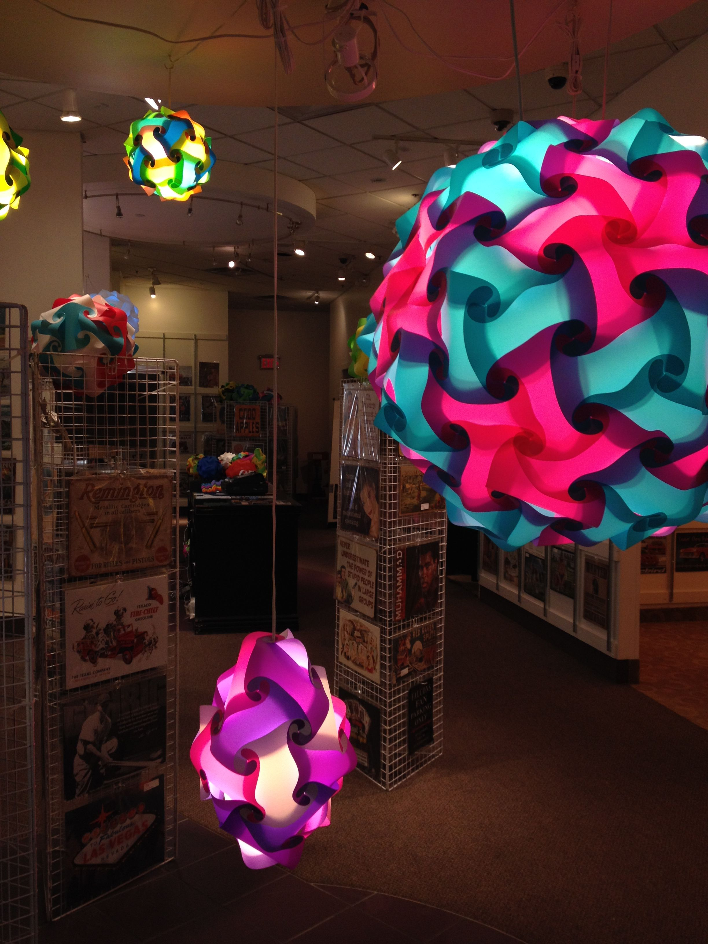she loves light, these are puzzle lamps | Puzzle lights