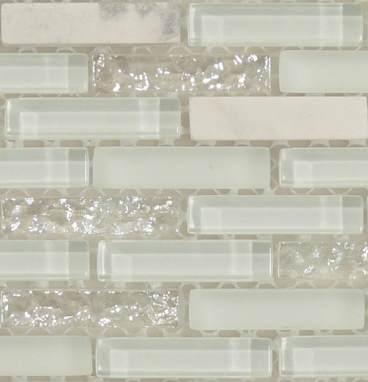 Glitter Kitchen Floor Tiles: White Glitter Backsplash #opal #iridescent #pearl