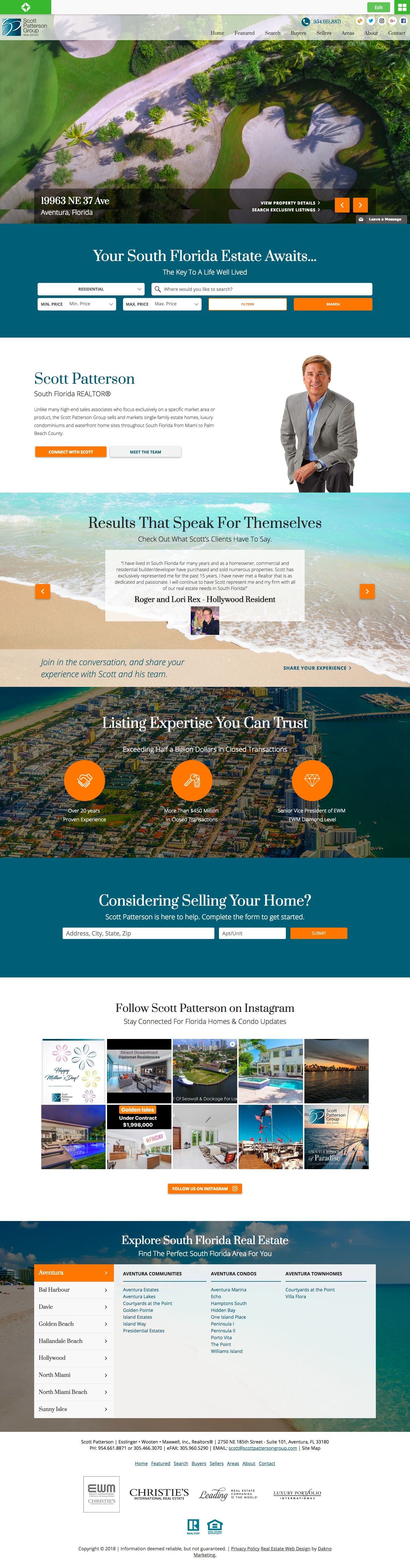 Custom Real Estate Website For South Florida Real Estate Agent Thoughtfully Designed With Video Florida Real Estate South Florida Real Estate Hallandale Beach