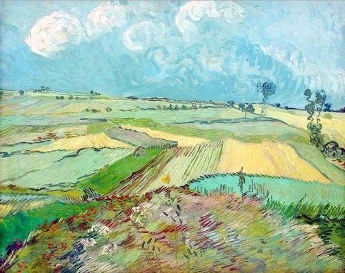 The Plain of Auvers~Vincent van Gogh