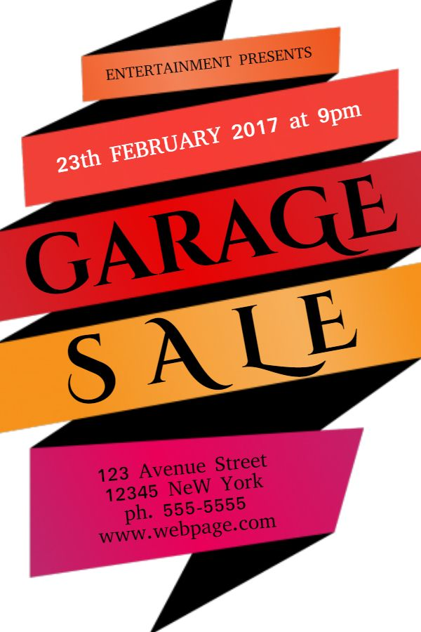 Garage Sale Flyer Template Click to customize Garage Sale - yard sale flyer template