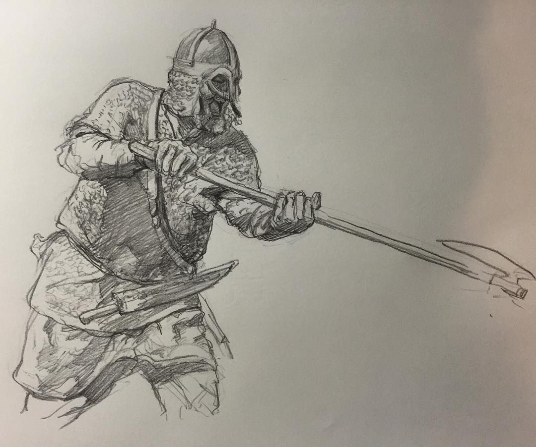 Cool viking warrior drawings