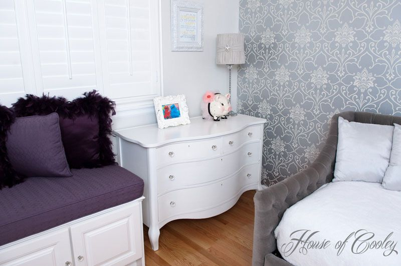 Little girls room. White Dresser For all the details check out the blog www.houseofcooley.com