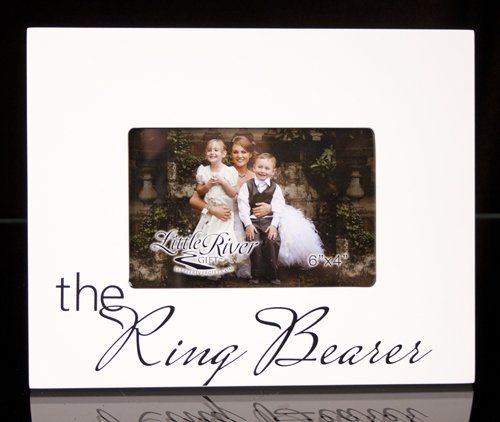 I like this idea! Little River Gift The Ring Bearer Picture Frame ...