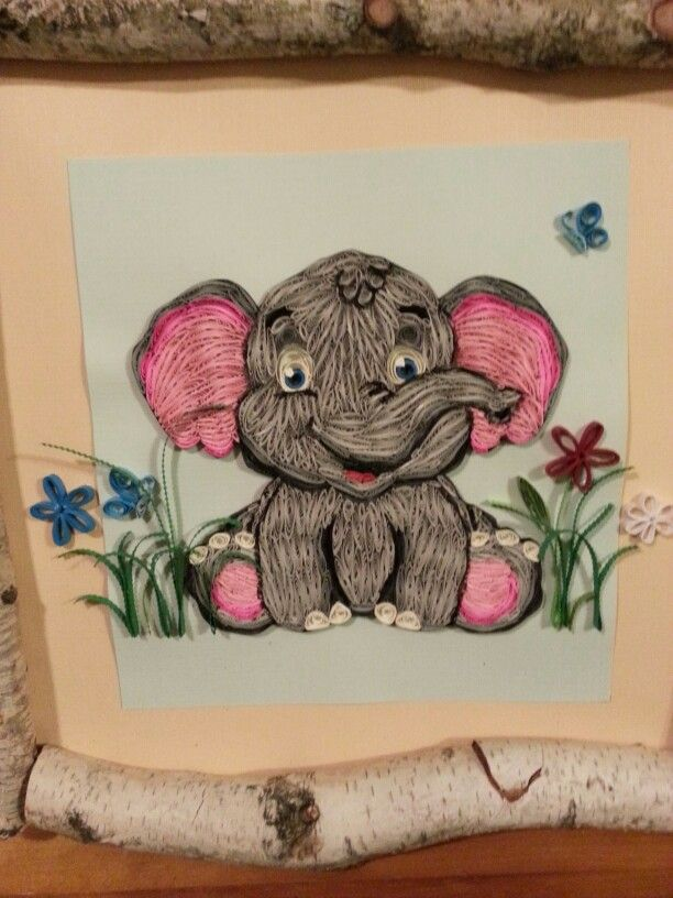 Quilled Elephant Quilling Work Paper Quilling Cards Paper Quilling Designs