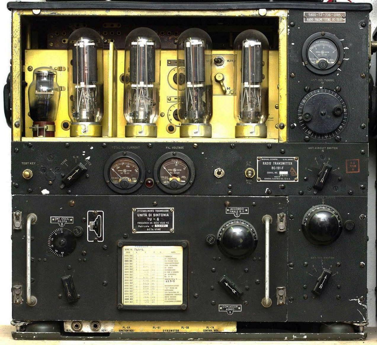 BC-191-F Transmitter   Vintage Technology   Ham radio, Amp