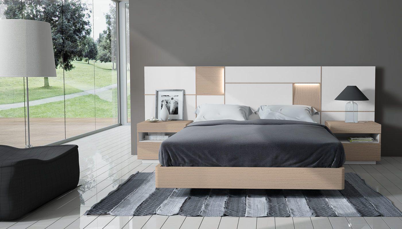 Mueble de dormitorio moderno 071a. Muebles acabados en chapa natural ...