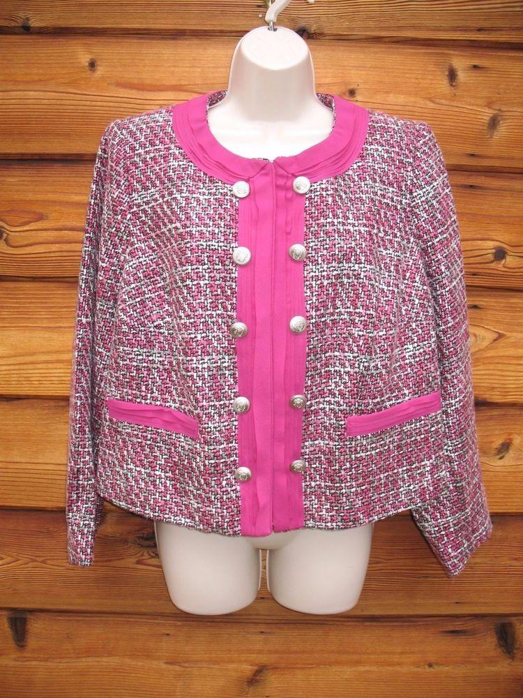 Jessica london blazer jacket 14 tweed double breasted new