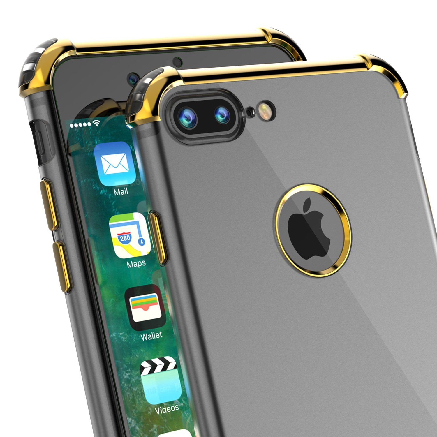 on sale 56f39 c2208 iPhone 8 PLUS Case, Punkcase BLAZE Gold Series Protective Cover W ...
