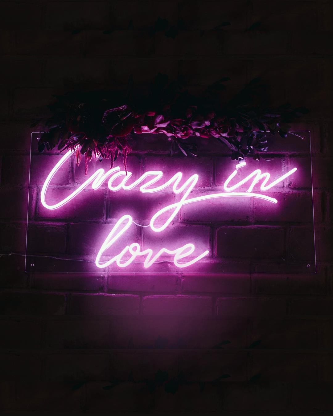 Inspo Custom Neon Quote Sign Art Wedding Crazy In Love Neon Quotes Love Neon Sign Custom Neon Signs