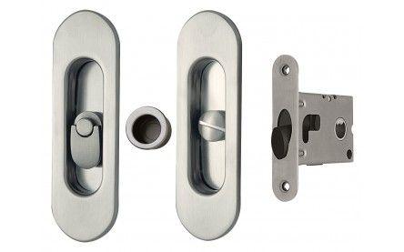 AHI SDK068 Round Privacy Mortise Pocket Door Hardware