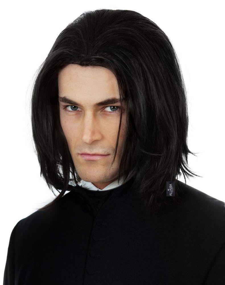 Dark Professor Wizard Costume Wig Long Black Mens Wigs Michael Jackson Vega A Fashion Clothing Shoes Access Mens Wigs Costume Wigs Severus Snape Costume