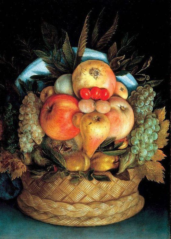 Le Panier De Fruits Envers Par Giuseppe Arcimboldo Histoire De La Peinture Comment Peindre Les Arts