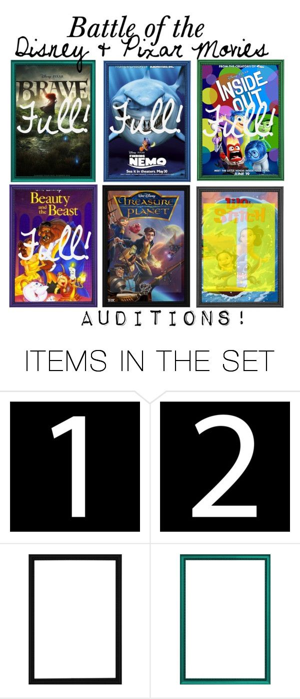 """""""Battle of the Disney & Pixar Movies"""" by merahzinnia ❤ liked on Polyvore featuring art"""