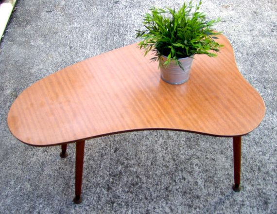 Retro Table 1970 S Kidney Table Mid Century Furniture Coffee Table Retro Table Coffee Table Mid Century Furniture