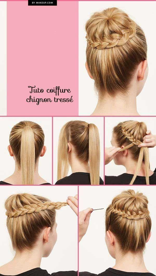 Idée Tendance Coupe \u0026 Coiffure Femme 2017/ 2018  Photo et tuto coiffure  cheveux longs, mi longs et cours, tutoriels coiffure simp.