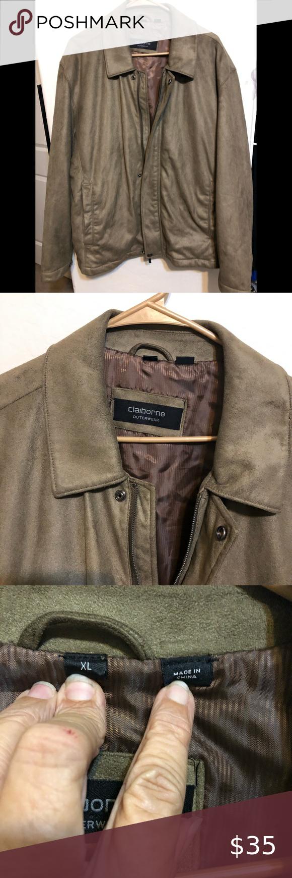 Claiborne Outerwear Faux Suede Jacket Size Xl Business Casual Jacket Outerwear Jackets Faux Suede Jacket [ 1740 x 580 Pixel ]
