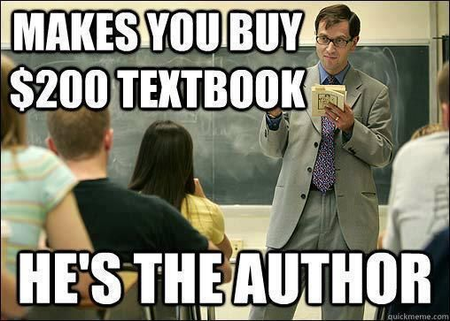 These Darn Professors College Textbook College Books College Memes