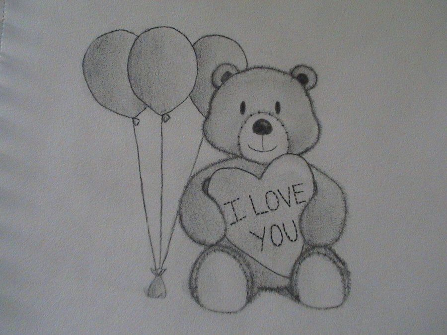 I Love You Drawings | love you drawings for him | I Love ...